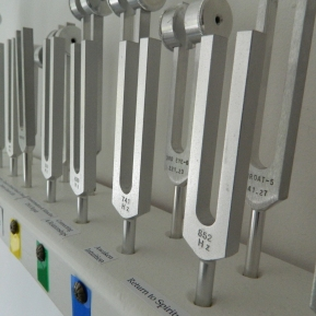 These are some of the tuning forks used in the sound & vibrational healing work.